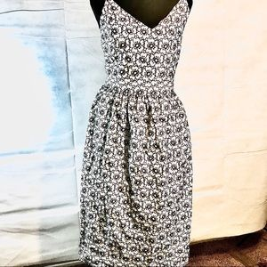 Unique fit and flair dress